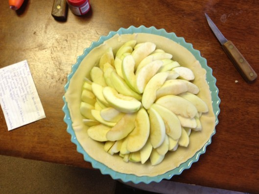 Pretty apples all in a row